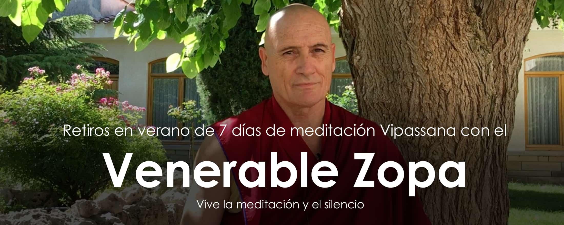 Retiros de meditación con Zopa